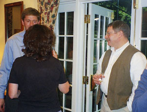 Arlington County Historic Preservation Program Coordinator Michael Leventhal Converses with Paul Ferguson and Fairlington Residents